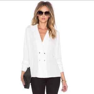 L'academie Military Long Sleeve Blouse Ivory Small